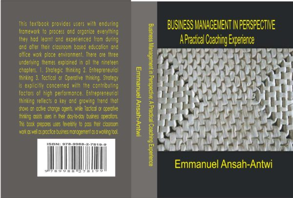 Front and Back Covers for Business Management in Perspective