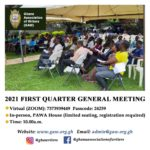 2021 FIRST QUARTER GENERAL MEETING