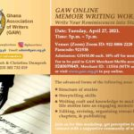 GAW ONLINE MEMOIR WRITING WORKSHOP II