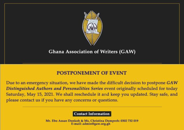 GAW DISTINGUISHED AUTHORS UPDATE