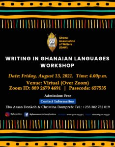 Read more about the article WRITING IN GHANAIAN LANGUAGES WORKSHOP